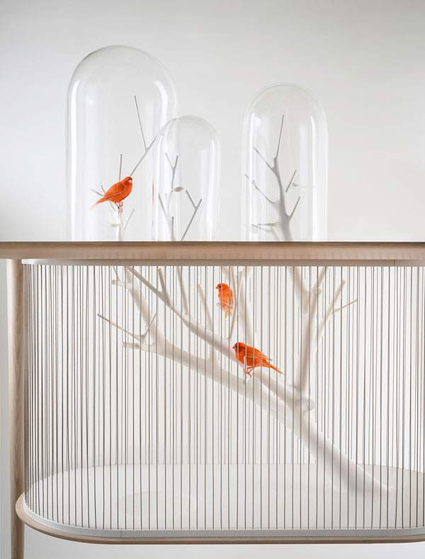 鳥かごとテーブルを合体させた素敵インテリア - 02