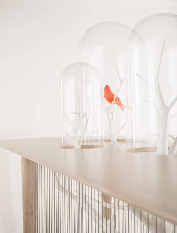 鳥かごとテーブルを合体させた素敵インテリア - 04