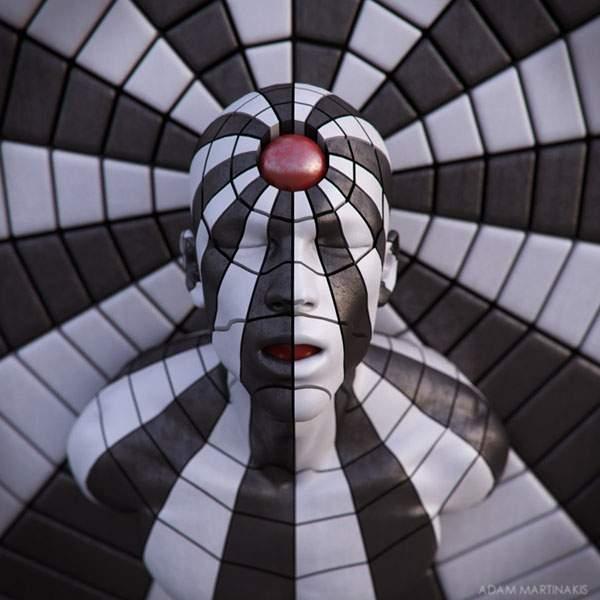 さまざまなマテリアルで人間を描くシュールな3DCGアート - 03