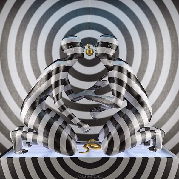 さまざまなマテリアルで人間を描くシュールな3DCGアート - 05