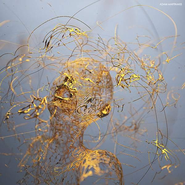 さまざまなマテリアルで人間を描くシュールな3DCGアート - 06