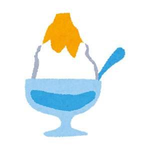 夏のイラスト「かき氷・レモン」
