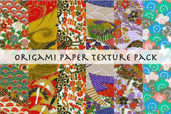 Origami paper texture pack