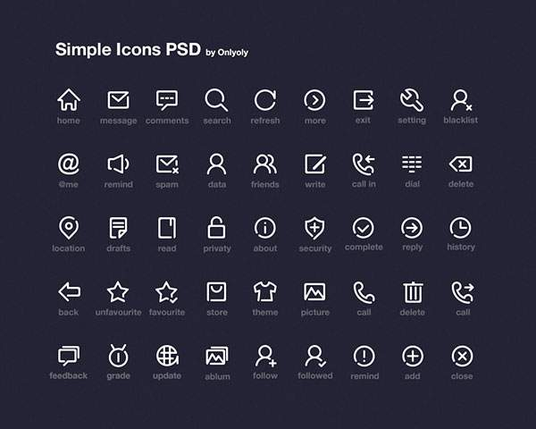 Simple Icon PSD