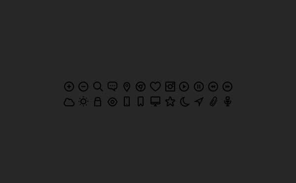 24 Dark Icons