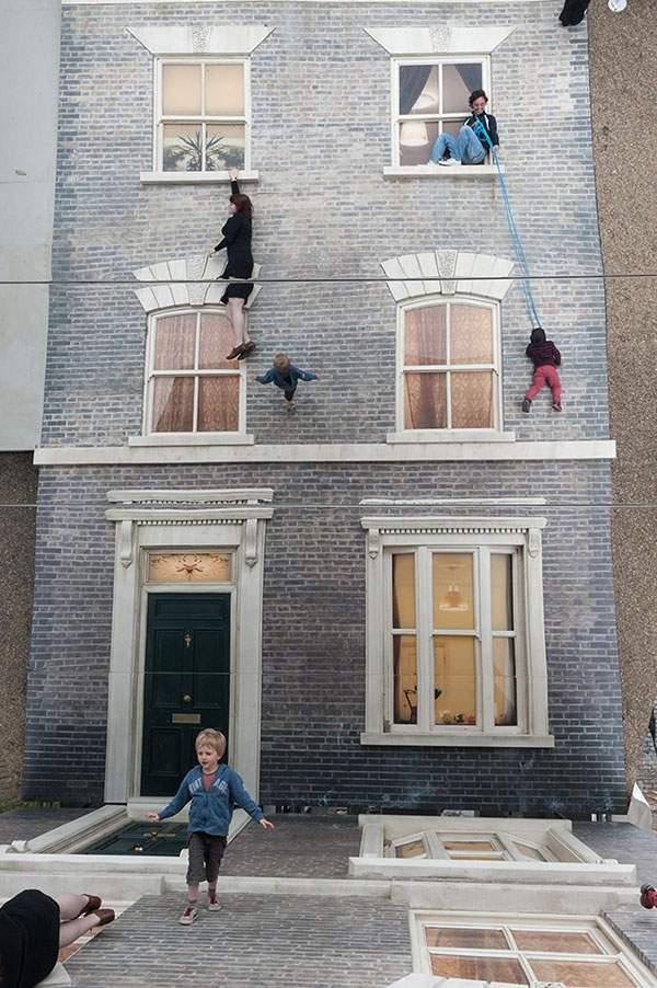 ロンドンの巨大トリックアートセット - 02