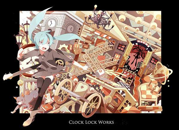 初音ミクのボカロ曲:clock lock works のイラスト