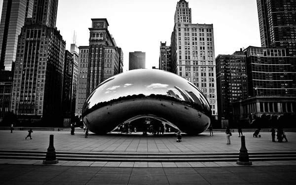 シカゴの街を撮影したおしゃれな壁紙画像