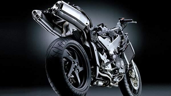 光沢ある金属の質感がクールなホンダのバイク画像