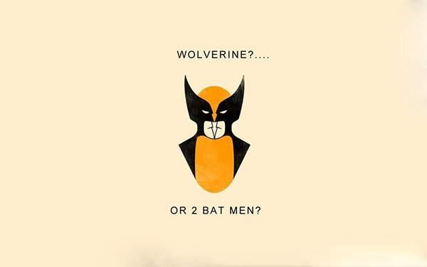 ウルヴァリン?それとも二人のバットマン?なイラスト壁紙