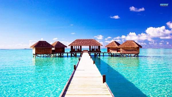 モルディブの海上リゾート施設