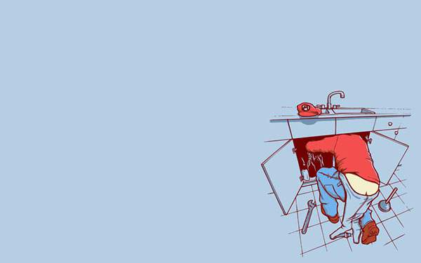 リアル配管工なマリオのパロディイラスト