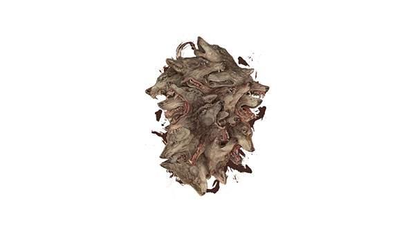 たくさんの狼の頭部をデザインしたイラスト