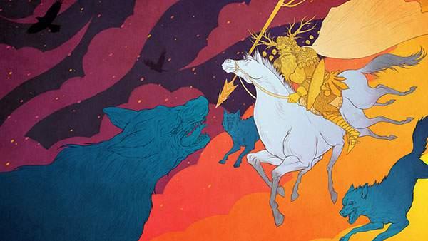 オーディン(北欧神話)をモチーフにしたイラスト
