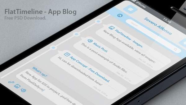 Timeline iPhone App Mockup