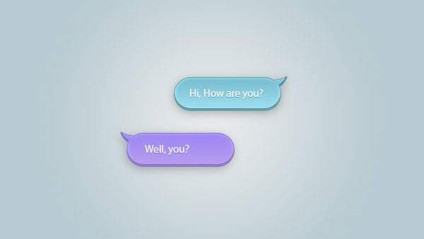 Chat Bubbles PSD
