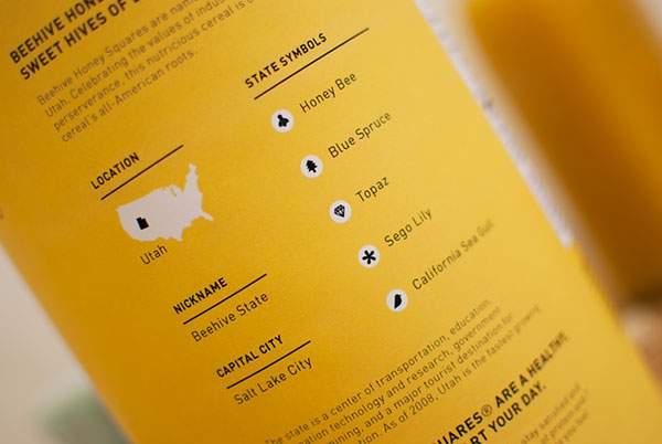 クマが口いっぱいにシリアルをほおばるパッケージデザイン - 03