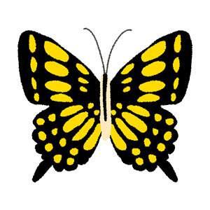 アゲハチョウのイラスト(蝶)