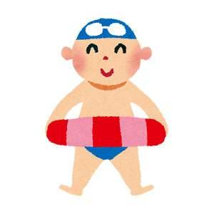 海水浴のイラスト「水着の男の子」