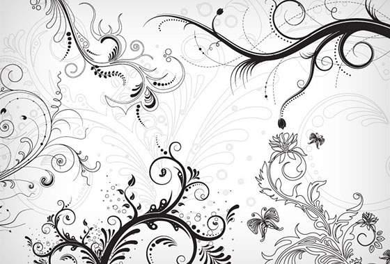 5 Floral Ornament Brushes (CS+)