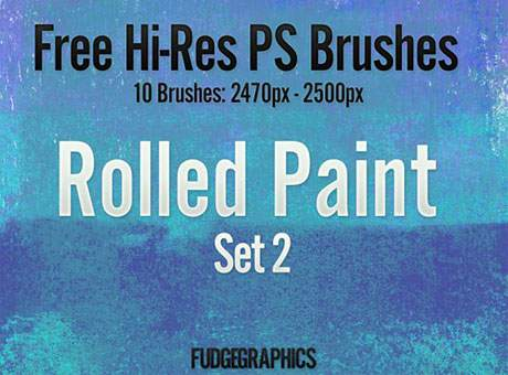 Free Hi-Res PS Brushes: Rolled Paint Set 2