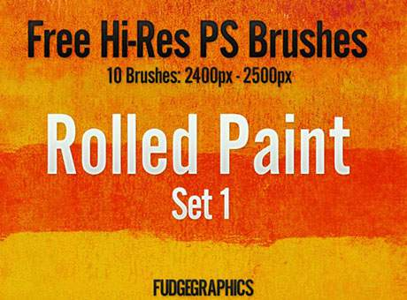 Free Hi-Res PS Brushes: Rolled Paint Set 1