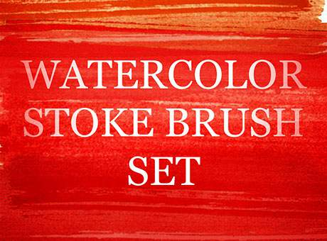 A Great Watercolour Strokes Photoshop Brush Set