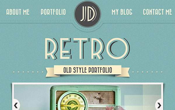 Retro Portfolio – Full PSD pack