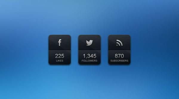 Glossy Feed Counter (PSD)