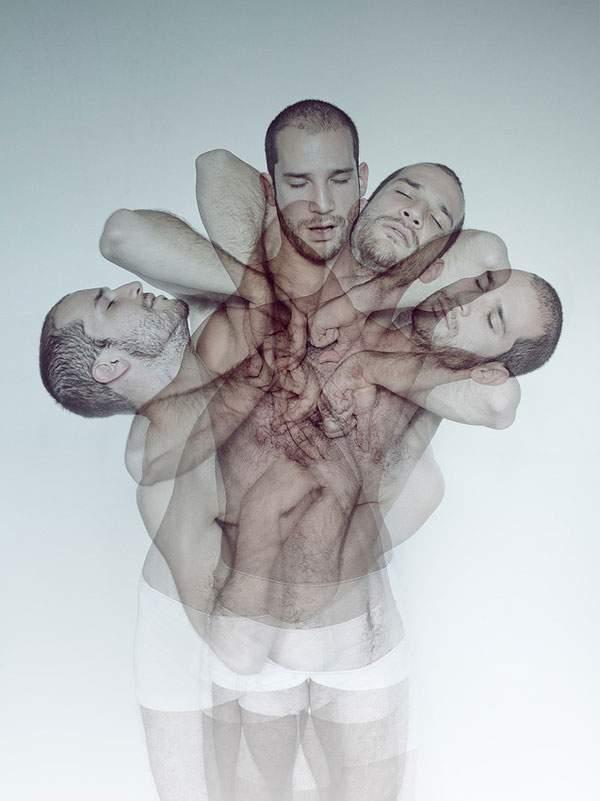 男性の裸体を多重露光で撮影した妖艶な写真作品 - 01