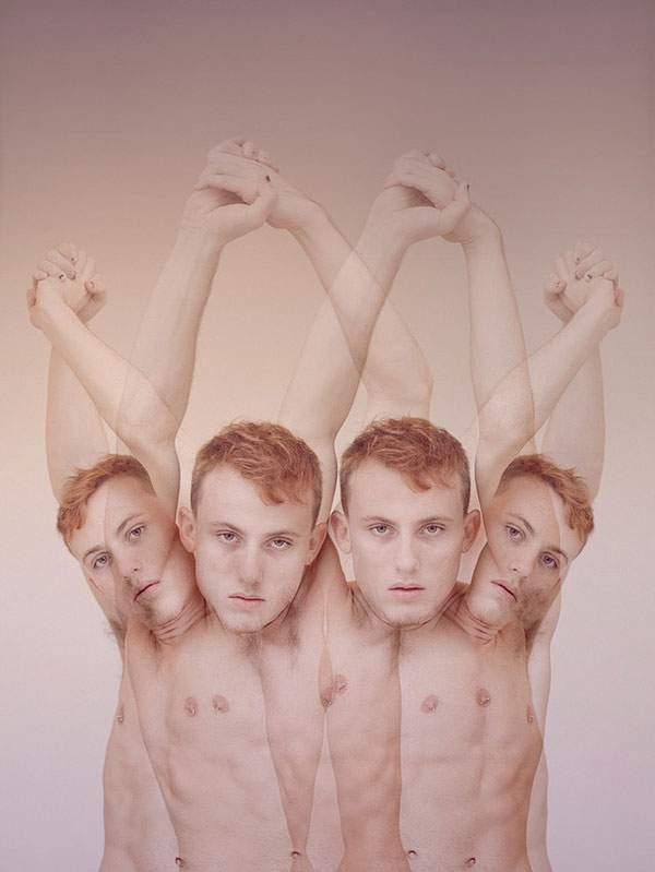 男性の裸体を多重露光で撮影した妖艶な写真作品 - 07