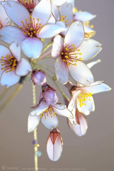 簪【 明けの桜 】