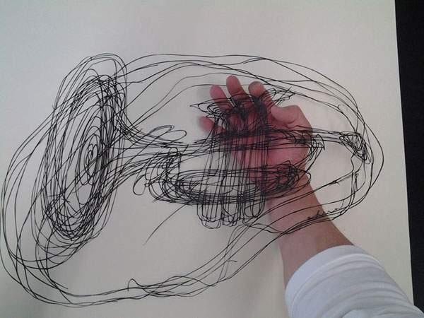 紙というよりは糸に近いレベルの切り絵アート - 05