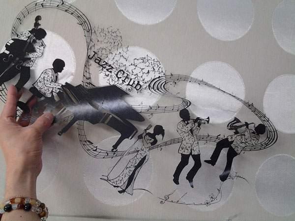 紙というよりは糸に近いレベルの切り絵アート - 06