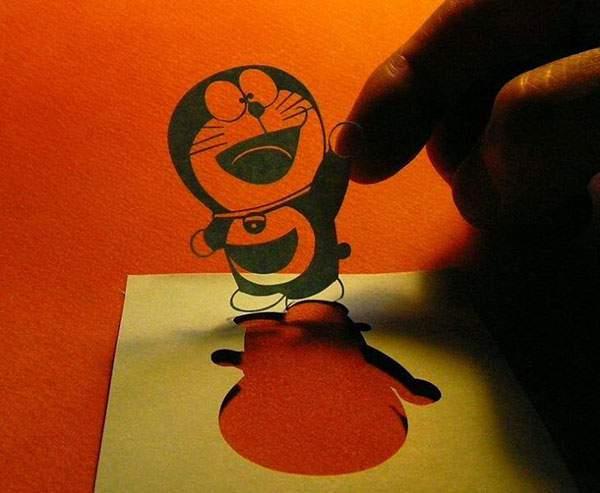 紙というよりは糸に近いレベルの切り絵アート - 10