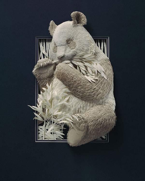 凄まじく精巧に出来た動物のペーパーアート - 02