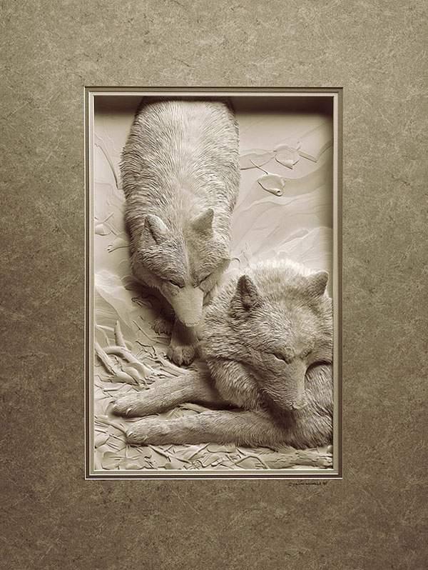 凄まじく精巧に出来た動物のペーパーアート - 09