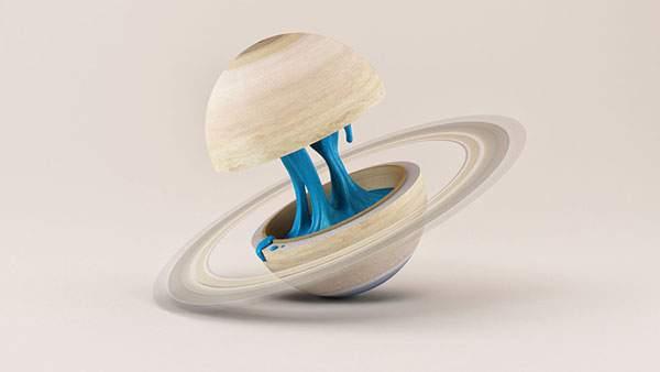 「惑星の輪切り」をモチーフにしたシュールなグラフィック作品 - 02