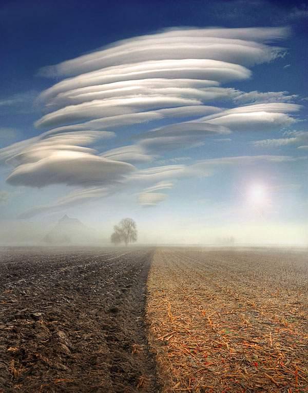 有り得ない形の雲の画像集 - 04