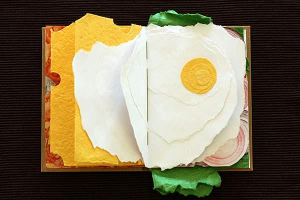 ページをめくると具がぎっしりな本のサンドイッチ - 03