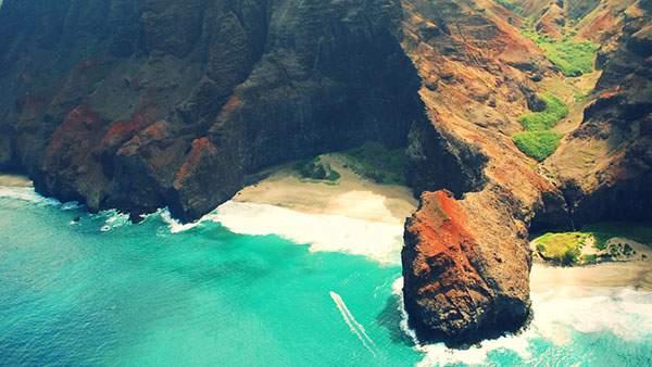 カウアイ島のビーチを撮影した綺麗な写真画像