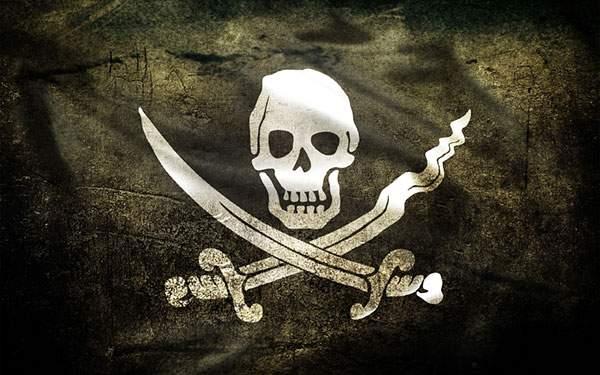 髑髏マークの海賊旗の壁紙画像