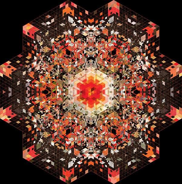 幾何学模様だけで作られたグラフィックアート作品 - 02