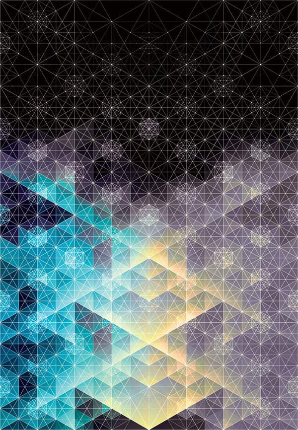 幾何学模様だけで作られたグラフィックアート作品 - 05