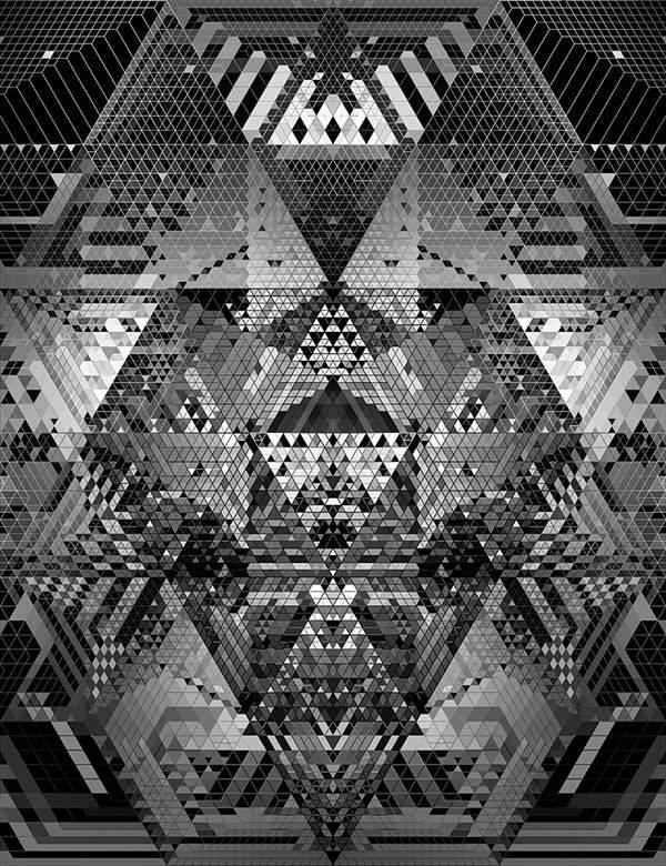 幾何学模様だけで作られたグラフィックアート作品 - 06