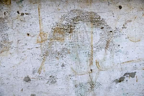 錆び付いて剥がれ落ちた金属の表面のテクスチャー画像 - 03