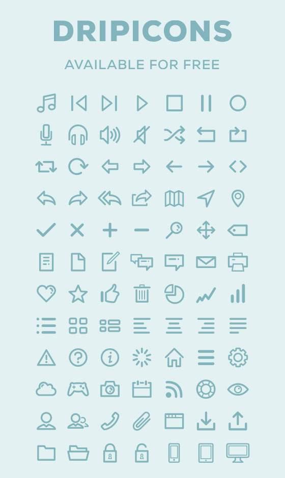 デザイナーのためのベクターアイコンセット