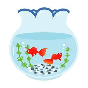金魚鉢のイラスト素材