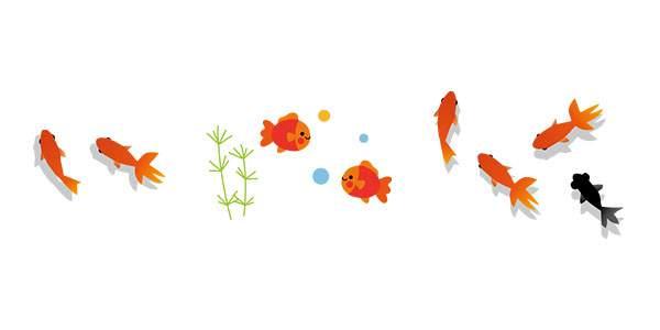 無料イラスト素材 金魚のかわいい画像まとめ 風鈴 金魚鉢 出目金 Switchbox