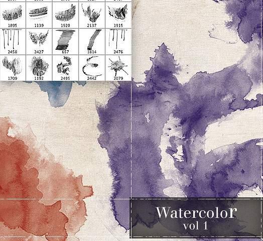 Watercolor Brushes Vol 1